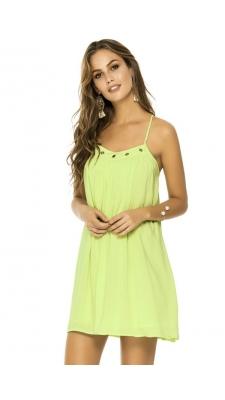 Kleit - roheline, tumeroosa, must