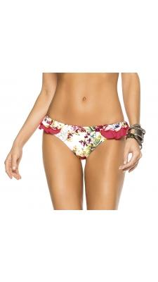 Cheeky Bottom püksid - punase-valgekirju lillemustriga